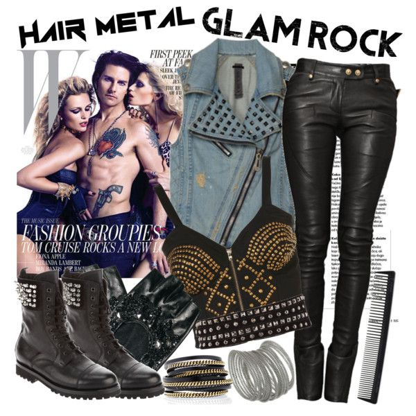 """""""Hair Metal & Glam Rock"""" by sweet-jolly-ranchers on Polyvore"""