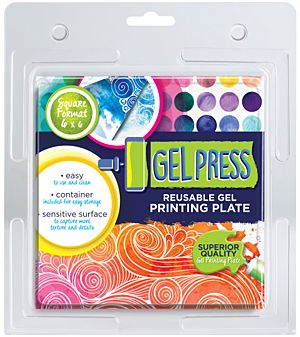 GEL PRESS - Reusable gel printing plate - 6X6 inches