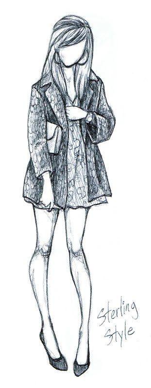 Картинки девочек в полный рост для срисовки карандашом