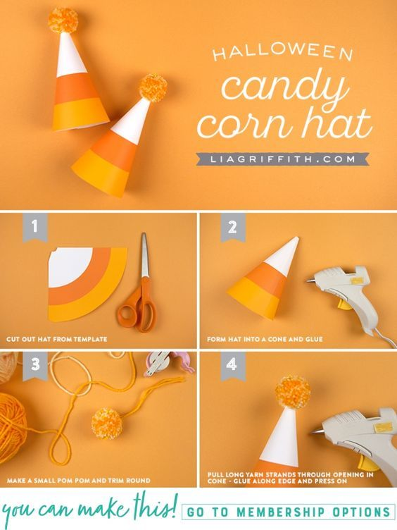 Printable Halloween Party Hats - www.liagriffith.com #diyinspiration #canon #spons #printables #paperart #diyhalloween #diycostume #diyhalloweencostume #madewithlia