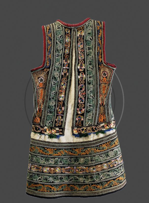 """The embroideries found on 19th century Greek women's folk dresses are fascinating.Anthropomorphic figures on embroidered costumes of elderly women remembering having worn those dresses reveal that those motifs were called by idiomatic names , such as """"dancing dolls"""" and other innumerable """"magical"""" symbols"""