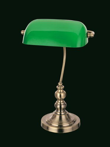 ⭐️828 kr. Bankers Table Lamp With Green Glass Shade Antique Brass Winfield Interiors http://www.amazon.co.uk/dp/B00EPFMSSI/ref=cm_sw_r_pi_dp_CqC3wb15MYFW8