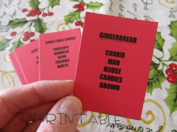 NEW Printable PDF Christmas Taboo Fun Party Game by sweetmellyjane