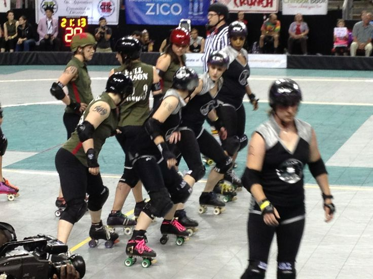 Rat City Rollergirls at Key Arena in Seattle, WA. We embrace the roller derby resurgence.
