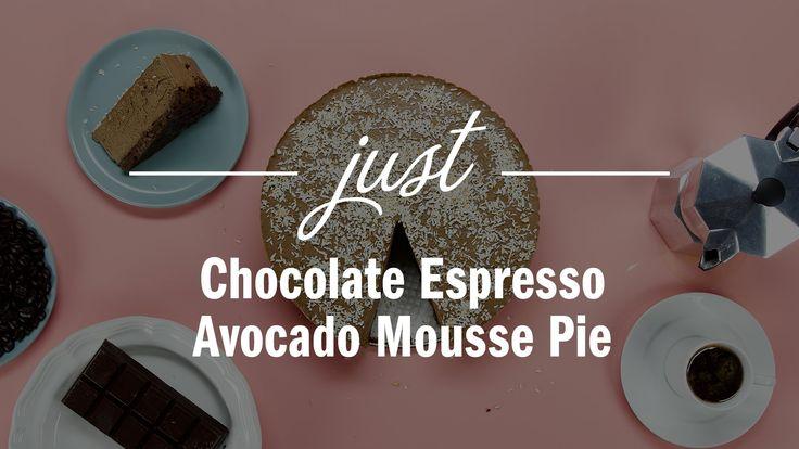 Chocolate Espresso Avocado Mousse Pie - Just Recipes