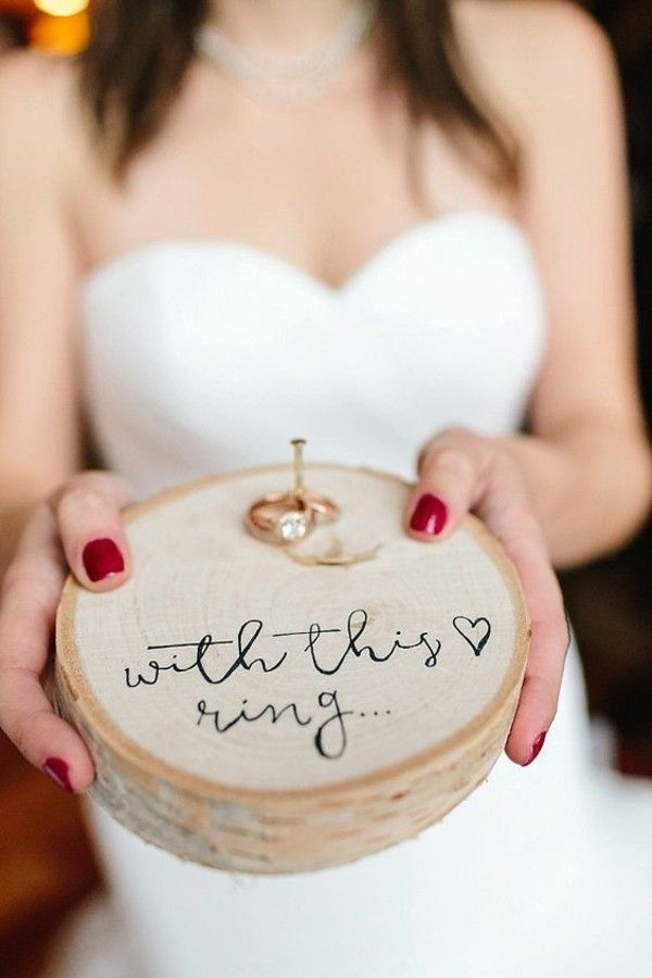 Eine originelle Hochzeitsidee: Ringkissen aus Holz selber machen! – Diamont