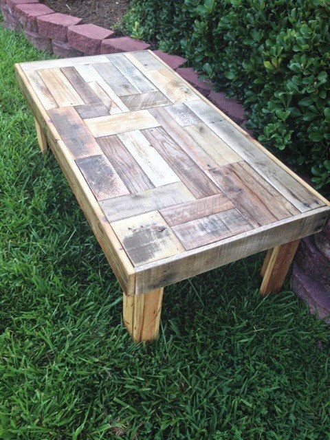 Coffee Table Reclaimed Pallet Wood Coffee Table