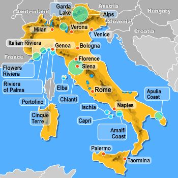 Best beaches in italy map ausdrucken beach gumiabroncs Choice Image