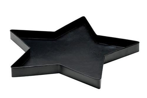 Plateau Etoile en métal Noir
