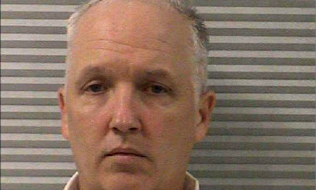 Former reserve police officer pleads no contest to forcing 13-year-old girl to have sex with her four underage boyfriends in his apartment while 'shouting directions' through the door