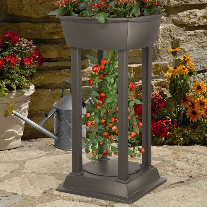 Great Upside Down Tomato Tower Resin Garden Station