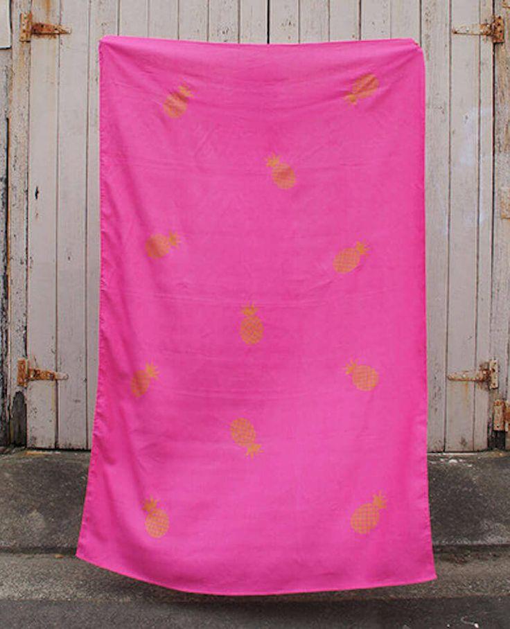 Linen Throw/Sarong - Hot Pink