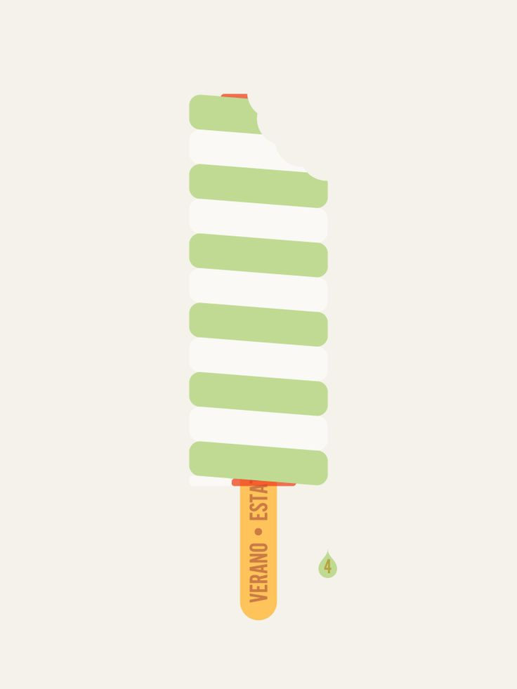Image of Popsicle Twister Lolly - Art Print Sean Mort print