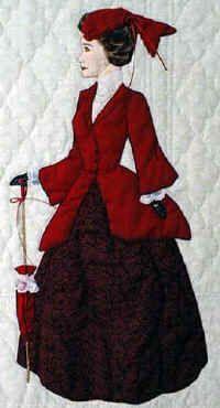 """** Sunbonnet Sue """"Claudette"""" Applique Quilt Block Of The Month Pattern @bonnetgirls"""