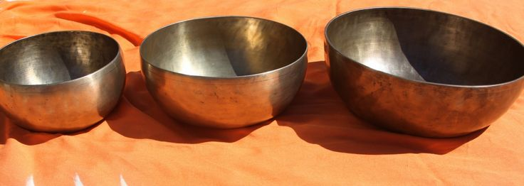Tibetan Singing Bowls, therapy grade which means the bowls contain 12 instead of the usual 7 different metals. I use these Singing Bowls a lot in my work in Aged care and medical settings. great way to de-stress, relax.  www.thepeacefulheart.com.au
