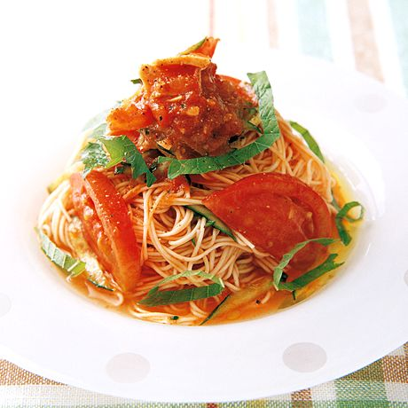 トマトとツナの冷製そうめん | 相田幸二さんのそうめん・ひやむぎの料理レシピ | プロの簡単料理レシピはレタスクラブニュース