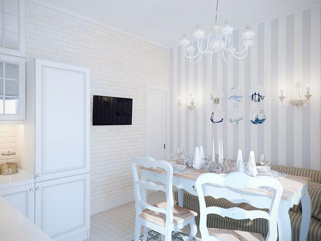 Кухня. Интерьер трехкомнатной квартиры в средиземноморском стиле на ул.Типанова