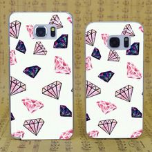 B1128 Emoji Diamond Style Transparent Hard PC Case Cover For Samsung Galaxy S 3 4 5 6 7 Mini Edge Plus Note 3 4 5 7(China (Mainland))