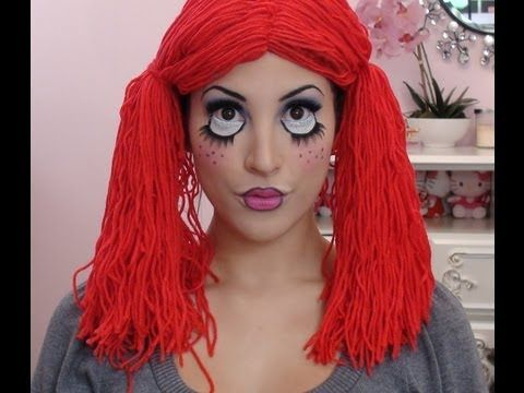 Cute Rag Doll - Halloween Makeup You Tube Tutorial #PrincessJesse
