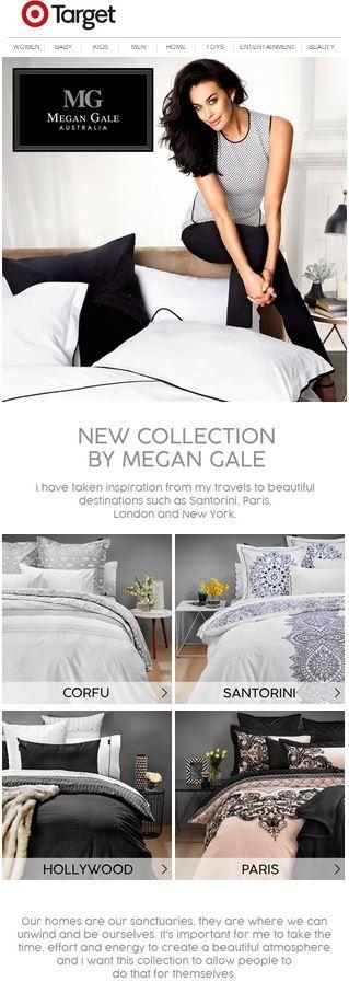 Target EDM. Features Megan Gale's Homewares Collection. Sent 10 September.