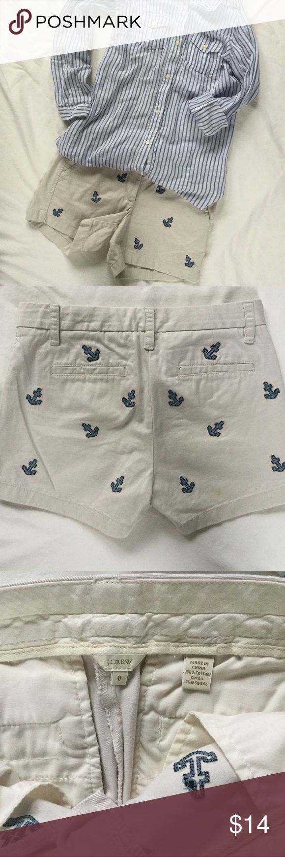 J. Crew Anchor Shorts Size 0 Good used condition J. Crew Shorts