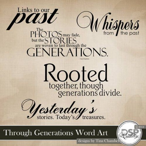 Word Art for Family History Pages