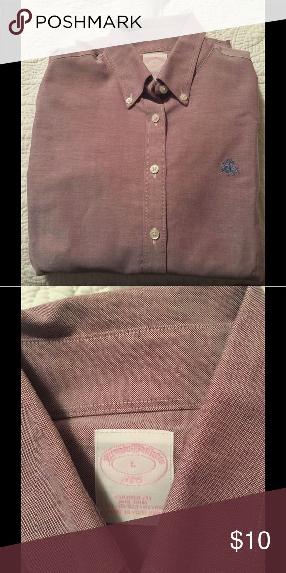 Brooks Brothers light purple women's oxford Light purple oxford button down Brooks Brothers Tops Button Down Shirts