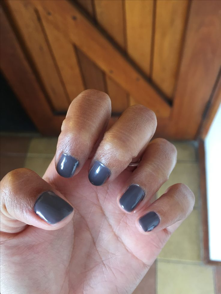 Grey nails by Tara for a wedding I attended