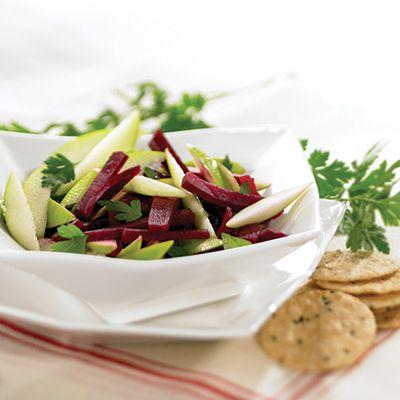 Salade de pommes et de betteraves