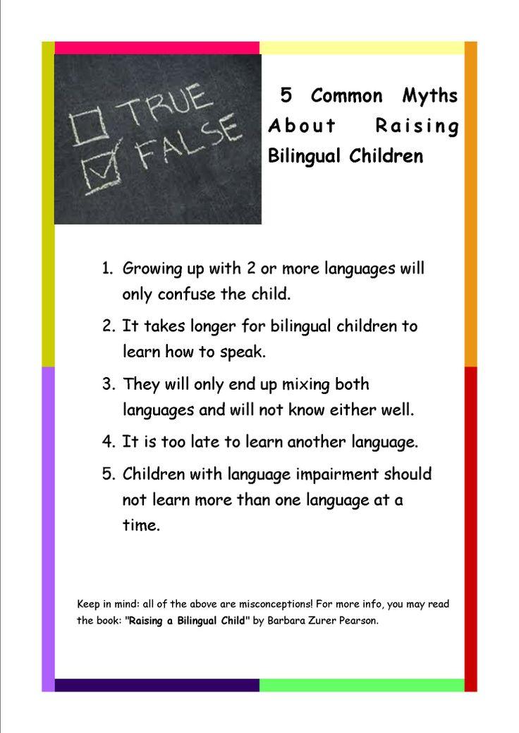 #Miturile despre invățarea unei alte #limbi sunt multiple, dar pentru binele copilului trebuie făcută o analiză riguroasă pentru a afla adevărul.