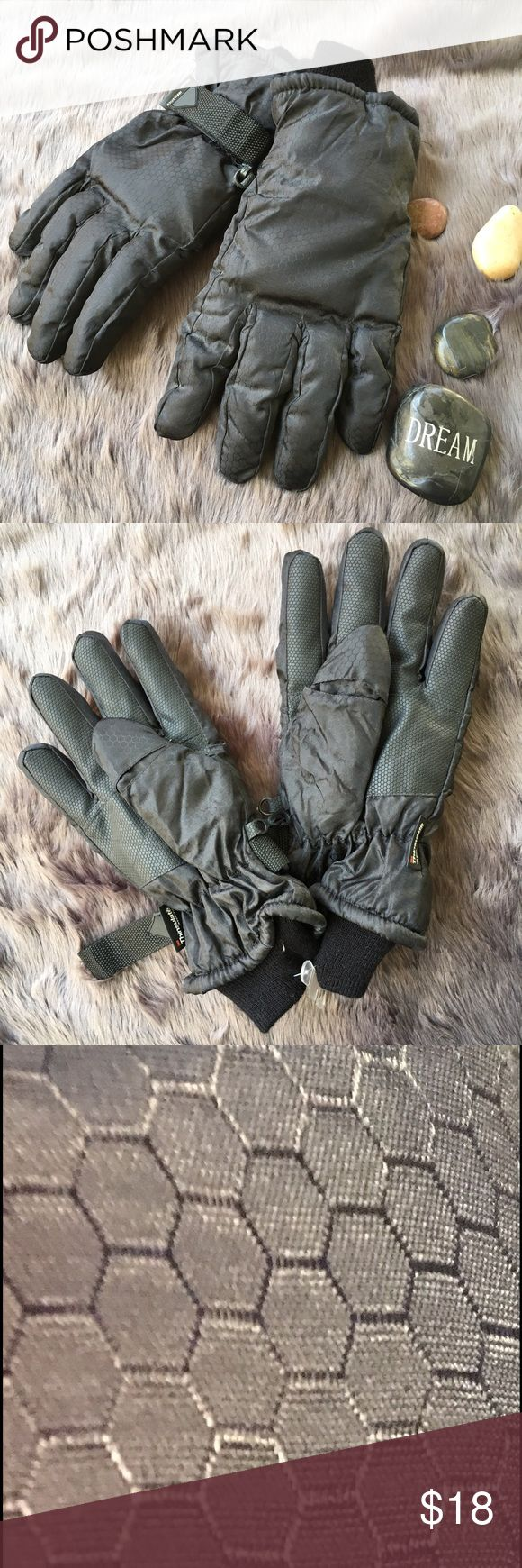 Overstock mens leather gloves - 3m Thinsulate Black Gloves