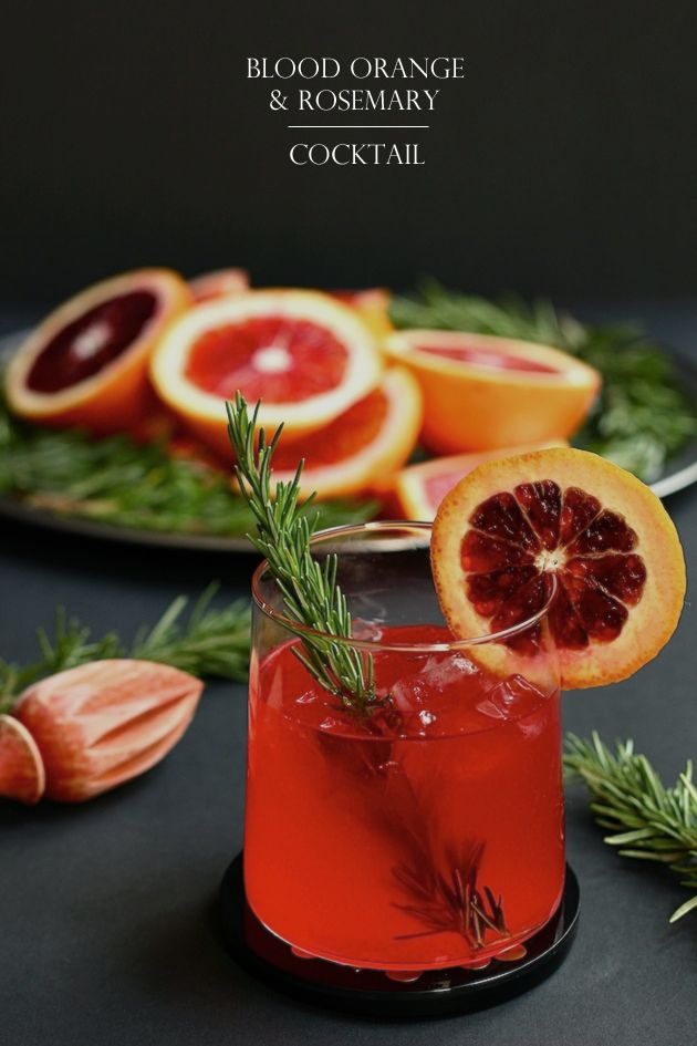 Blood Orange And Rosemary Cocktail - The Bloody Rose ...