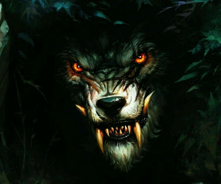 Evil Wolf Face Demon wolf face | Idea...