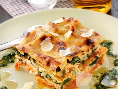 Lasagne, lax och spenat Receptbild - Allt om Mat | Salmon and spinach lasagna