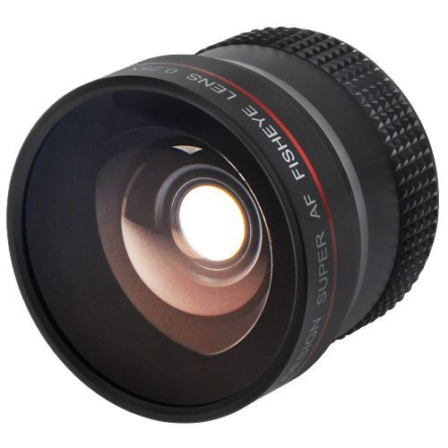 Precision Design 0.25X Super AF Fisheye Lens with:Adapter Rings (52-58mm, 55-58mm, 62-58mm)