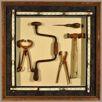 Classic Tool Shadowbox - need to do this with paps old tools