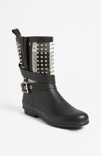 So let me get this straight. Burberry is making an overpriced punk rock rain boot. Well OK then. Burberry 'Holloway' Rain Boot (Women) | Nordstrom