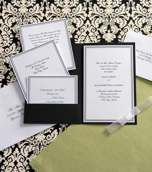Wilton Elegance Invitation Kit Black &amp