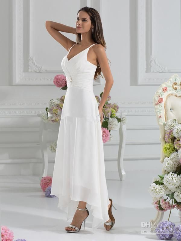 Wholesale bridal gowns online, bridal party dresses and buy wedding dress online on DHgate.com are fashion and cheap. The well-made cheap 2016 a-line v-neck ankle length beach garden wedding dresses with a wraps sexy low v-back party gowns a-line chiffon wedding dresses sold by shayiyuan is waiting for your attention.