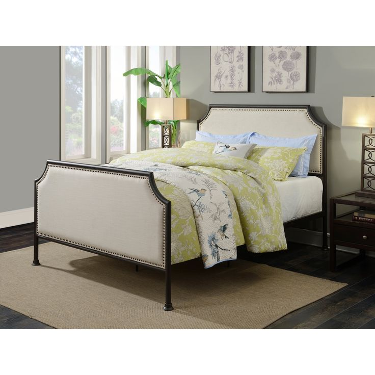 Right2Home Industrial Clipped Corner Panel Bed - Queen - DS-D040002-290