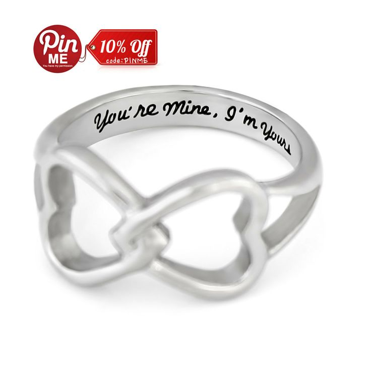 hearts infinity ring promise ring wedding band