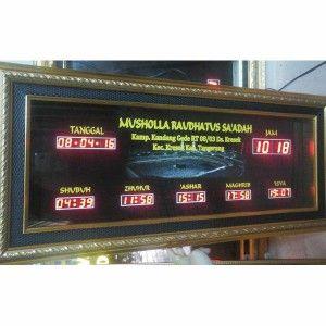 Jam digital masjid jual jadwal sholat digital otomatis murah Tangerang