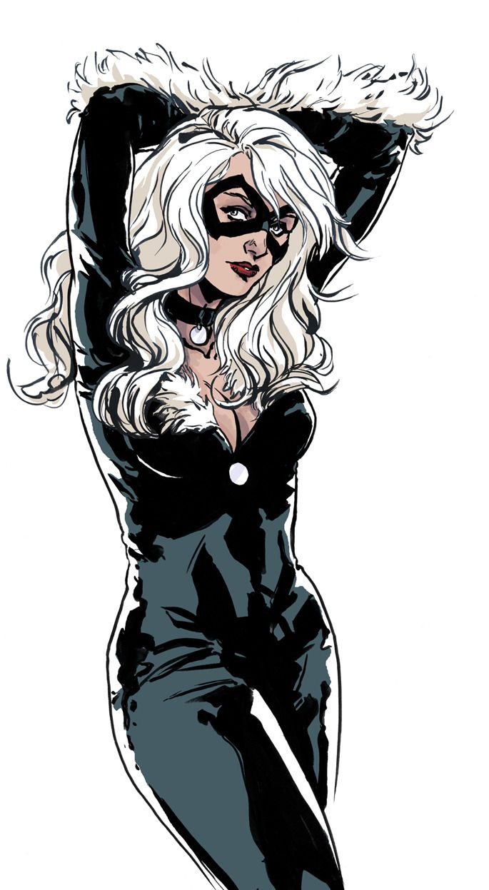 "comic-book-ladies: "" Black Cat by Marc Laming "" Marvel"