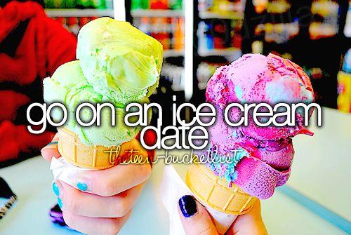 Go on an ice cream date.