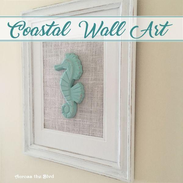 Seahorse Home Decor Wall Art Coastal Decor By Seashoresecrets: Easy DIY Coastal Wall Art