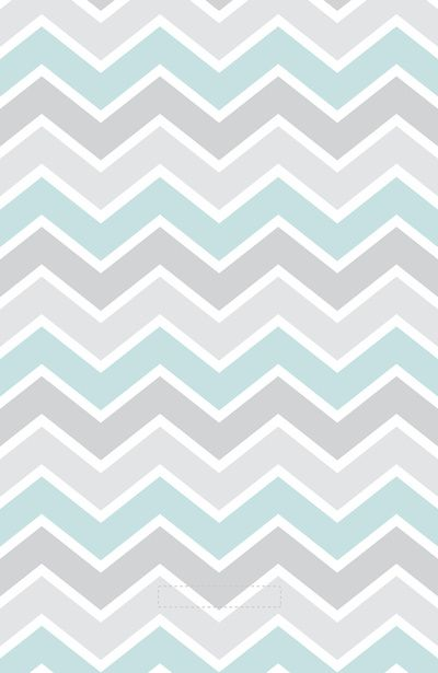 Gray & Aqua Chevron iPhone Wallpaper