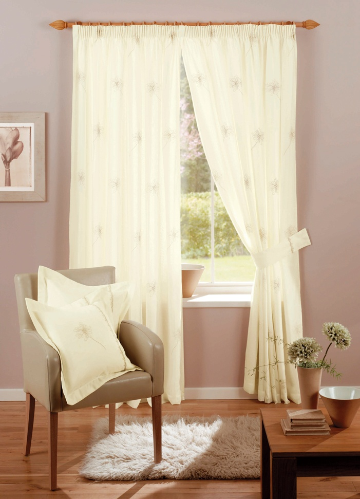 Chloe Cream Pencil Pleat Curtains  From £22.69