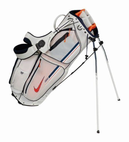 Nike Xtreme Sport IV Carry Golf Bag, Sail/Team Orange/Blackened Blue by Nike. Save 28 Off!. $119.99. The Nike Extreme Sport IV Carry features a 9 inch oval top with 8 way, 3 full length divider system. This carry offers 9 functional pockets, 6 of which are zippered. Pockets included are a water resistant fleece lined valuables pocket, insulated cooler pocket, quick access drawstring pocket, full length apparel pocket and scorecard pocket. You will enjoy the comfort of the Nike revolving…