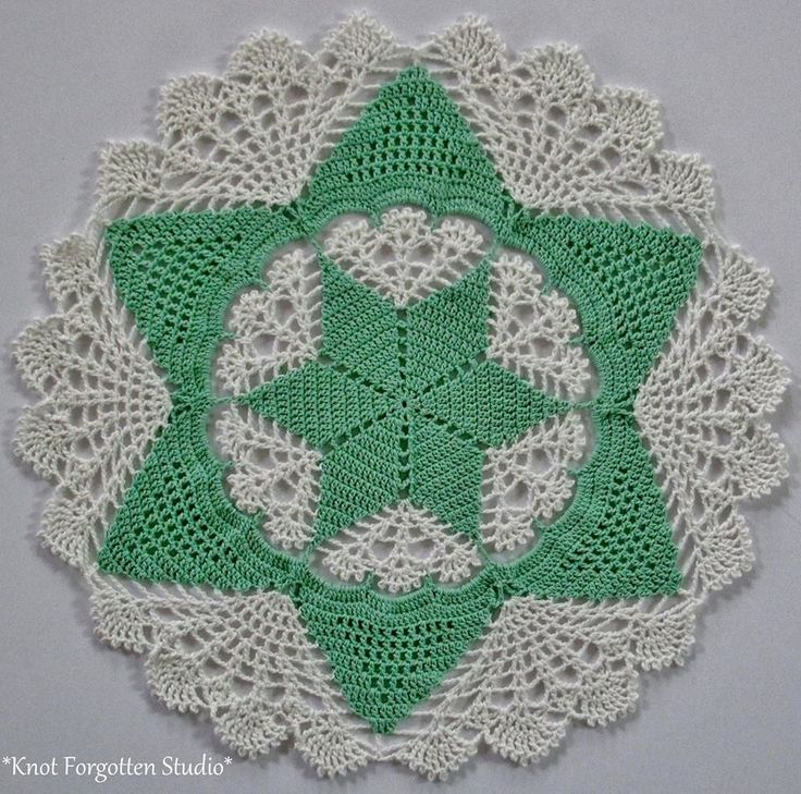 Star Petals~ I used Herrschners Best size 10 thread. The colors are Lagoon and White.