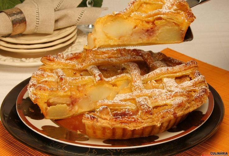 Receita de Tarte de maçãs assadas. Descubra como cozinhar Tarte de maçãs assadas de maneira prática e deliciosa com a Teleculinária!